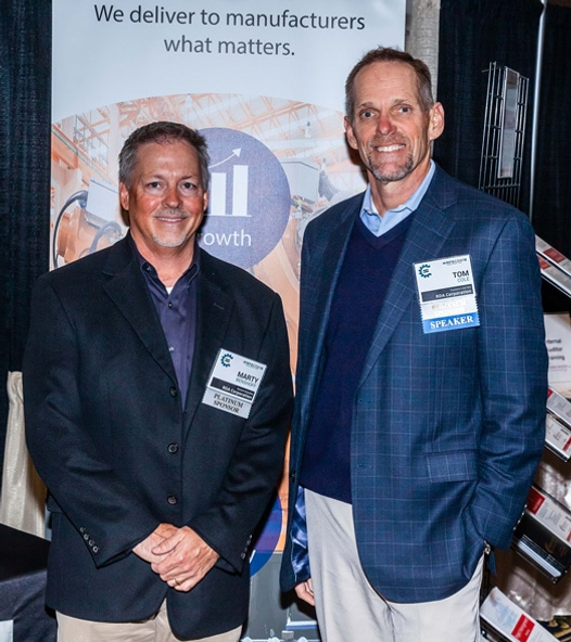 Marty Benshoff and Tom Cole represent RDA at MFGCON.